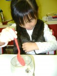 What happens to the marshmallow when we put it in water?